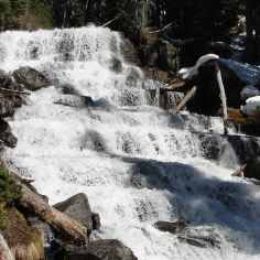 Waterfall between the Middle and Upper Lakes